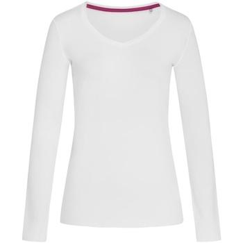 Vêtements Femme T-shirts manches longues Stedman Stars Claire Blanc