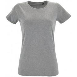 Vêtements Femme T-shirts manches courtes Sols Regent Gris chiné