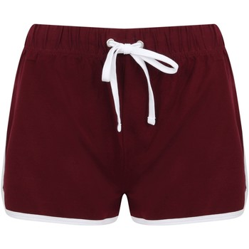 Vêtements Femme Shorts / Bermudas Skinni Fit Retro Bordeaux/blanc