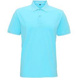 Vêtements Homme Polos manches courtes Asquith & Fox Vintage Bleu turquoise clair