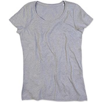 Vêtements Femme T-shirts manches courtes Stedman Stars Lisa Gris clair chiné