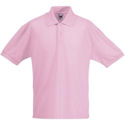 Vêtements Garçon Polos manches courtes Fruit Of The Loom Pique Rose clair