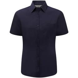 Vêtements Femme Chemises / Chemisiers Russell Chemise à Manches Courtes manches courtes BC1028 Bleu marine