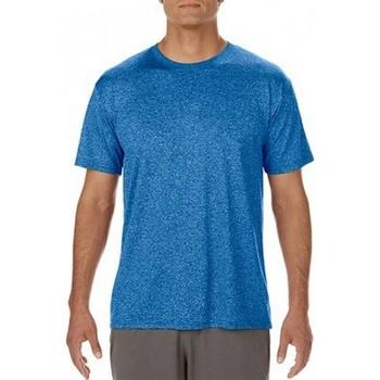Vêtements Homme T-shirts manches courtes Gildan Performance Bleu roi chiné