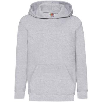 Vêtements Enfant Sweats Fruit Of The Loom Hooded Gris chiné