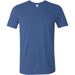 Vêtements Homme T-shirts manches courtes Gildan Soft-Style Bleu roi chiné