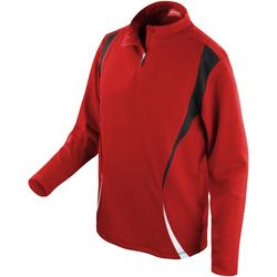 Vêtements Vestes de survêtement Spiro Performance Rouge/Noir/Blanc