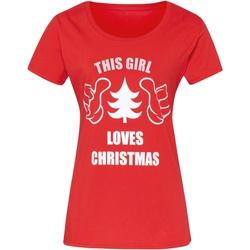 Vêtements Femme T-shirts manches courtes Christmas Shop Christmas Rouge