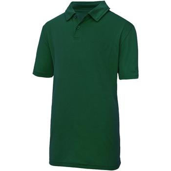 Vêtements Enfant Polos manches courtes Just Cool JC40J Vert bouteille