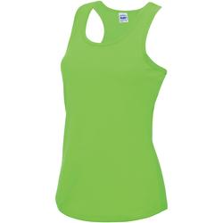 Vêtements Femme Débardeurs / T-shirts sans manche Just Cool Girlie Vert électrique