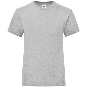 Vêtements Fille T-shirts manches courtes Fruit Of The Loom Iconic Gris clair chiné