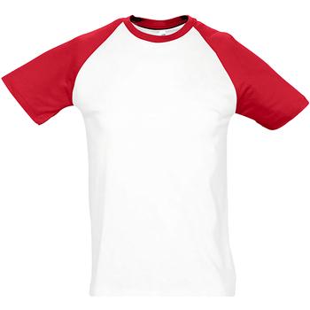 Vêtements Homme T-shirts manches courtes Sols Contrast Blanc/rouge