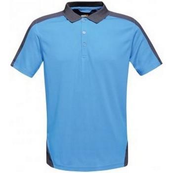 Vêtements Homme Polos manches courtes Regatta Contrast Bleu clair / bleu marine