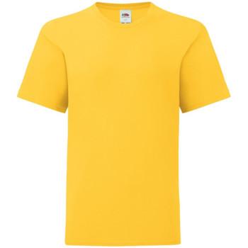 Vêtements Enfant T-shirts manches courtes Fruit Of The Loom Iconic Jaune