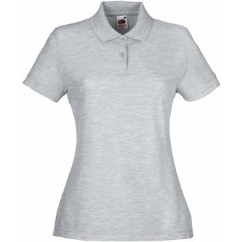 Vêtements Femme Polos manches courtes Fruit Of The Loom 63212 Gris chiné