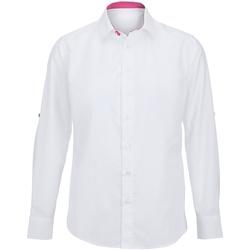 Vêtements Homme Chemises manches longues Alexandra Hospitality Blanc/Rose