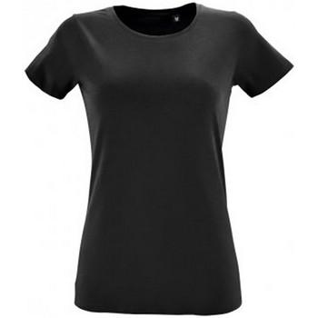 Vêtements Femme T-shirts manches courtes Sols Regent Noir