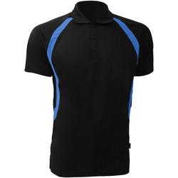 Vêtements Homme Polos manches courtes Gamegear Riviera Noir/Bleu électrique