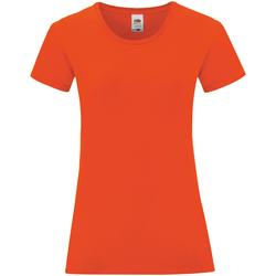 Vêtements Femme T-shirts manches courtes Fruit Of The Loom Iconic Orange
