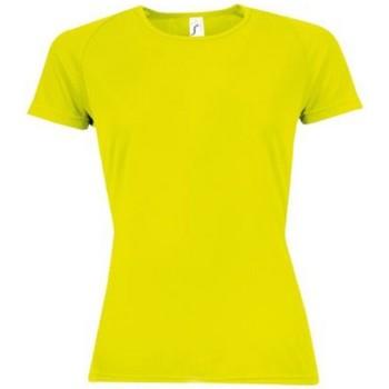 Vêtements Femme T-shirts manches courtes Sols Sporty Jaune néon