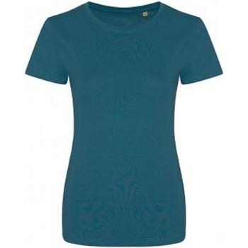 Vêtements Femme T-shirts manches courtes Ecologie Organic Bleu