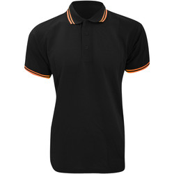 Vêtements Homme Polos manches courtes Kustom Kit KK409 Noir/Orange