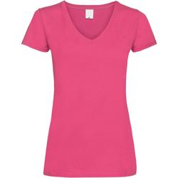 Vêtements Femme T-shirts manches courtes Universal Textiles Value Rose