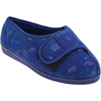 Chaussures Femme Chaussons Comfylux Floral Bleu marine