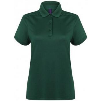 Vêtements Femme Polos manches courtes Henbury Pique Vert bouteille