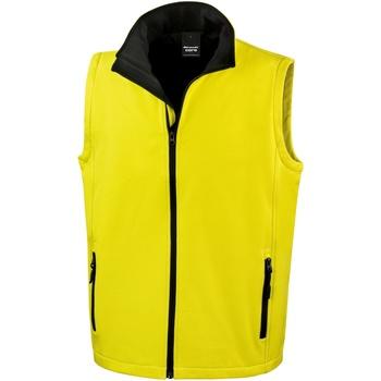 Vêtements Homme Gilets / Cardigans Result Softshell Jaune / Noir