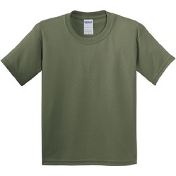 Vêtements Enfant T-shirts manches courtes Gildan 5000B Vert militaire