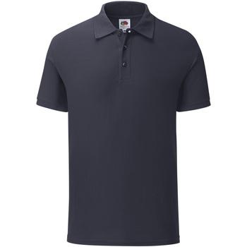Vêtements Homme Polos manches courtes Fruit Of The Loom SS221 Bleu marine foncé
