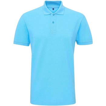 Vêtements Homme Polos manches courtes Asquith & Fox Twisted Turquoise chiné