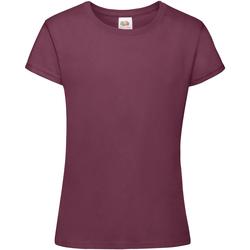 Vêtements Fille T-shirts manches courtes Fruit Of The Loom Sofspun Bordeaux