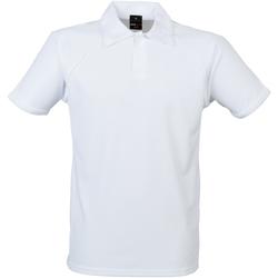 Vêtements Homme Polos manches courtes Finden & Hales Piped Blanc/Blanc