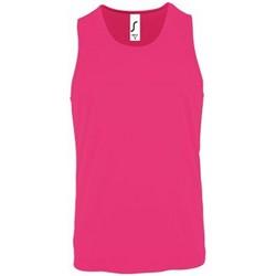 Vêtements Homme Débardeurs / T-shirts sans manche Sols 2073 Rose fluo