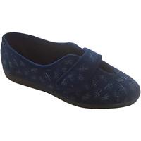 Chaussures Femme Chaussons Sleepers Floral Bleu marine