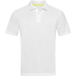 Vêtements Homme Polos manches courtes Stedman Mesh Blanc