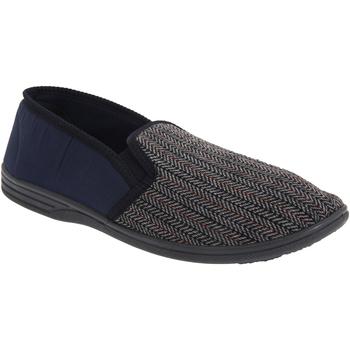 Chaussures Homme Chaussons Zedzzz Gusset Bleu marine