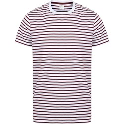 Vêtements Musse & Cloud Skinni Fit Striped Blanc / bordeaux