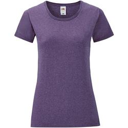 Vêtements Femme T-shirts manches courtes Fruit Of The Loom Iconic Violet chiné