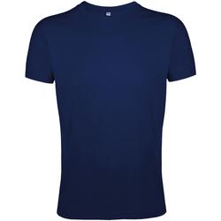 Vêtements Homme T-shirts manches courtes Sols Slim Fit Bleu marine