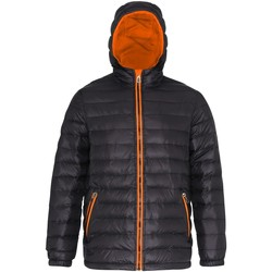 Vêtements Homme Doudounes 2786 Hooded Noir/ Orange