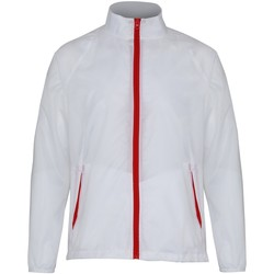 Vêtements Homme Coupes vent 2786 Contrast Blanc/Rouge