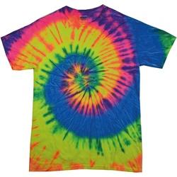 Vêtements Femme T-shirts manches courtes Colortone Rainbow Arc-en-ciel fluo