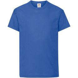 Vêtements Enfant T-shirts manches courtes Fruit Of The Loom Original Bleu roi