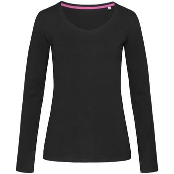 Vêtements Femme T-shirts manches longues Stedman Stars Claire Noir