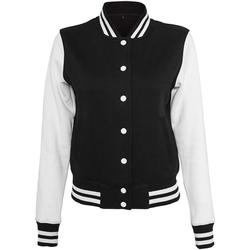 Vêtements Femme Blousons Build Your Brand BY027 Noir/Blanc