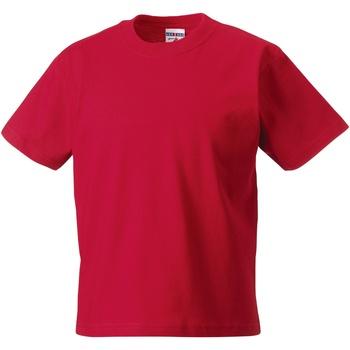 Vêtements Enfant T-shirts manches courtes Jerzees Schoolgear Classics Rouge