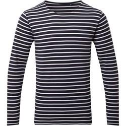 Vêtements Homme T-shirts manches longues Asquith & Fox AQ070 Bleu marine / blanc